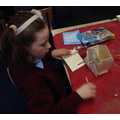 Building and painting our own birdhouses