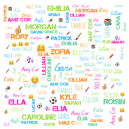 How many times can you find your name? 😊