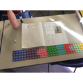 Leona made herself a huge pattern using numicon and described the contents as fractions!
