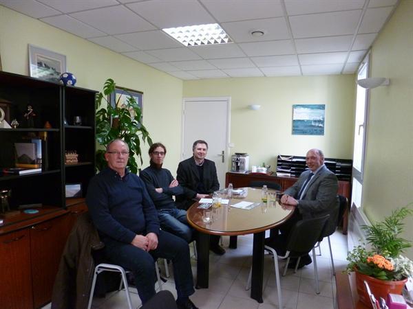 Meeting with Mayor of Auchel