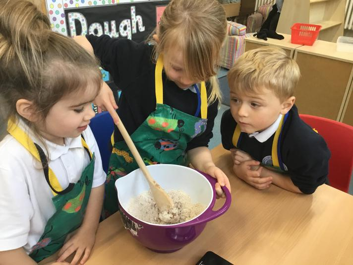 Reception making bread
