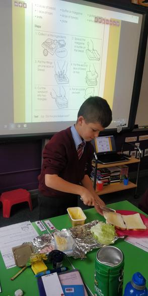 Procedural writing - making sandwiches