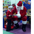 and a special visitor came to school.
