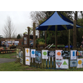 Our outdoor maths area