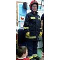 Our teacher dressed as a fireman!
