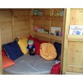 Our outdoor cosy reading den!
