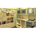 The role play area for talking, playing with other & practising curriculum skills