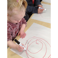Developing skill in using mark making tools
