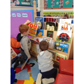 We love to read books in nursery