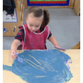 We explore making marks.