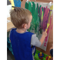 Exploring marks and movements wth paint and tools