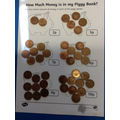 How many pennies in each piggy bank?