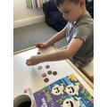 Archie used 10 2p coins to make 20p.