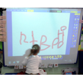 and can practise writing on the white board
