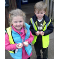 We carefully collected eggs