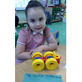 Look at what I've made and  written a sentence!