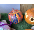 eddie's very beautiful pumpkin, which won the award for 'looked the most fun to make!'