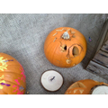 We loved Jasper's friendly pumpkin; you can see how hard he worked on it!