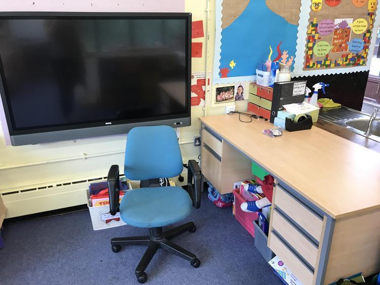 Mrs Anderson's desk