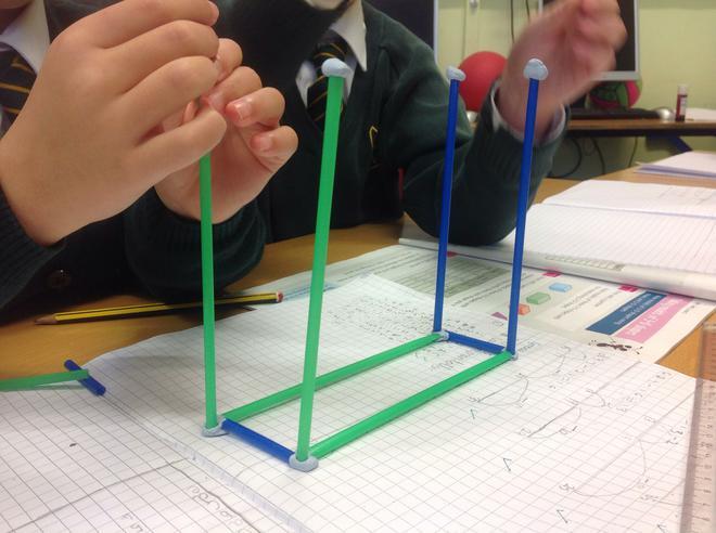 Sofia making a cuboid!