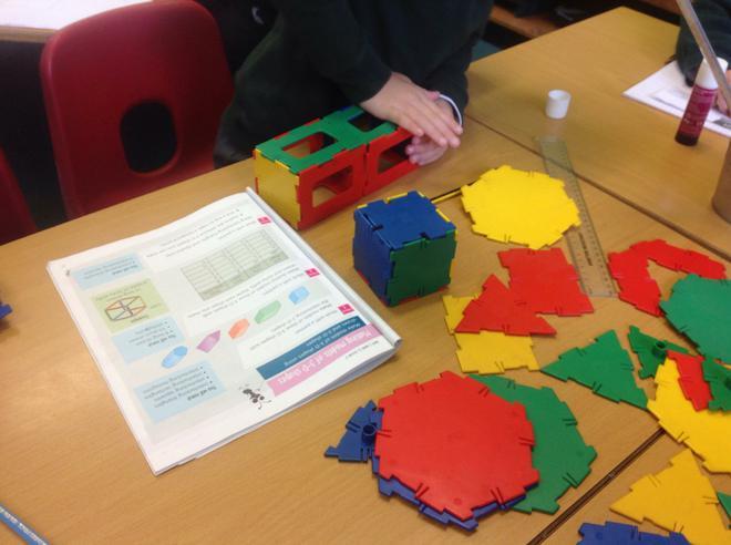We used interlocking shapes to make 3D shapes!