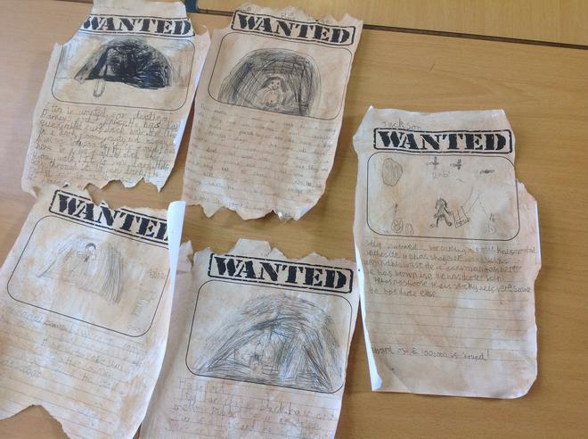 Some of our wanted posters!