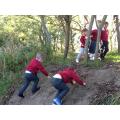 Mud climb.