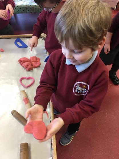 Play-dough hearts
