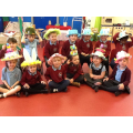 Some of our 'full-timers' in their bonnets.