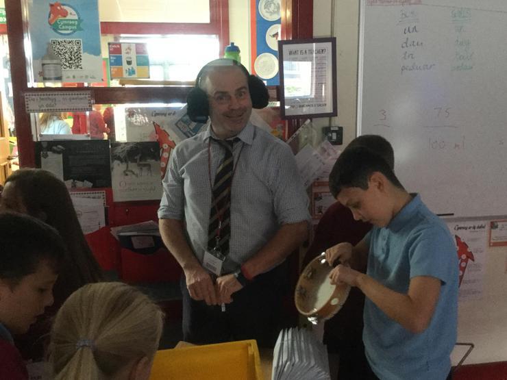Oh dear-Mr Clarke was not enjoying the music!