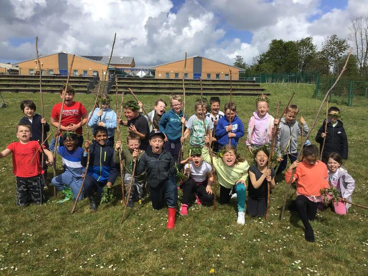 We made celtic sacrifices and had a go at throwing spears!
