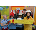 Pupils with RNLI lifeguards