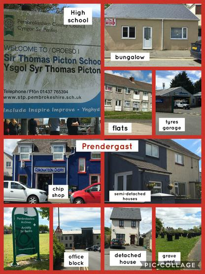 Look at the different buildings we saw walking around our local area.