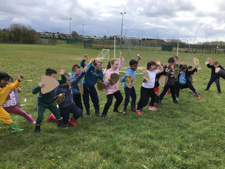 We role played being Celtic warriors - we used our scariest faces!