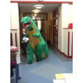 We even had a large dinoasur in school!