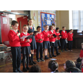 Our Eco council performing for us