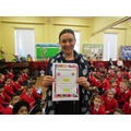 P4 Pandas won best attendance in January 2017