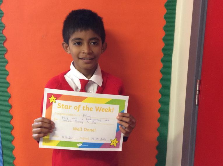 You have been a terrific Star of the Week Erlon