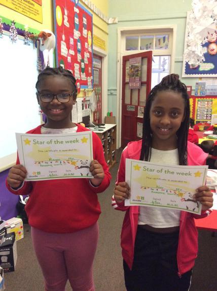 Doodle tables winners Maysa & Nair