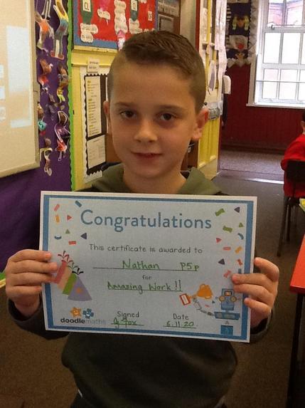 Nathan- This weeks Doole Maths winner