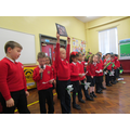P3Little Tigers performing at assembly