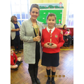 Whole school winner,  Class winner of AR