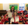 P5 Pandas won 2 P1 won 1 month of best attendance