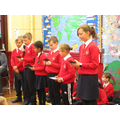 Our eco club spoke at assembly today