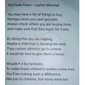 Fairtrade poem