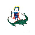 Sophie's representation of St George and the Dragon