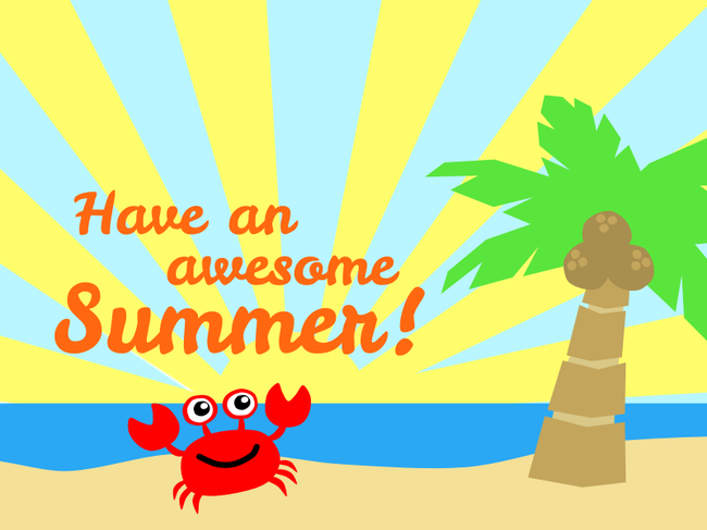Thank you for all your hard work this year. Have a wonderful summer and we look forward to