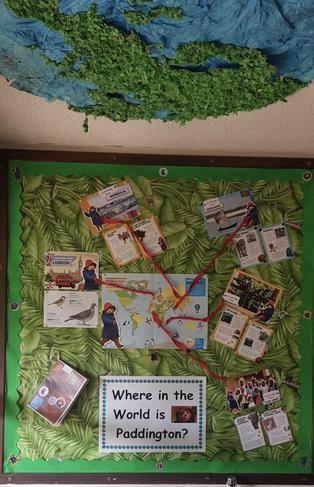 Year 1 Where in The World? Classroom Display