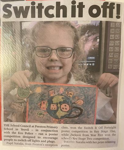 Newspaper coverage of winning entry