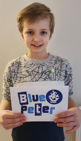 Well done to William from Hawthorn for gaining his green Blue Peter badge.